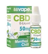 S15260 88VAPE MENTHOL CHILL 50MG CBD E-LIQUID 10ML (PRICE PER CDU 10)