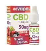 S15261 88VAPE BERRIES 50MG CBD E-LIQUID 10ML (PRICE PER CDU 10)